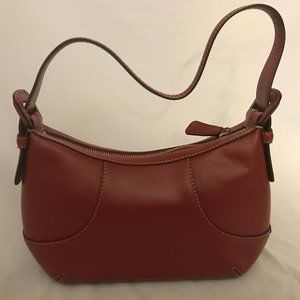 Cole Haan Red Hobo Style Leather Purse